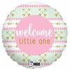 "D001 Pink Welcome Little One 18"" Mylar Balloon"
