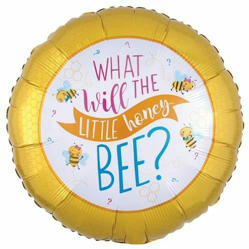 "527 What Will the Little Honey Bee 18"" Mylar Balloon"