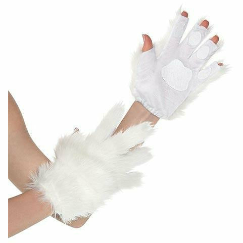 White Cat Paw Glovelettes