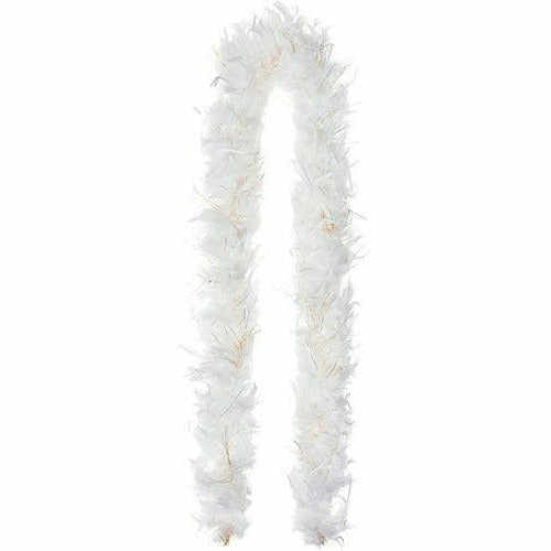 White Feather & Tinsel Boa