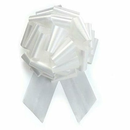 White Pull Bow 8in