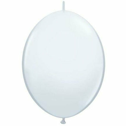 "White QuickLink 12"" Latex Balloon"