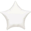 "011 White Metallic Star 19"" Mylar Balloon"