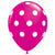 "White Polka Dots Wild Berry 11"" Latex Balloon"