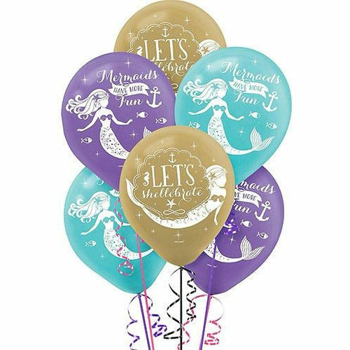 Wishful Mermaid Balloons 6ct