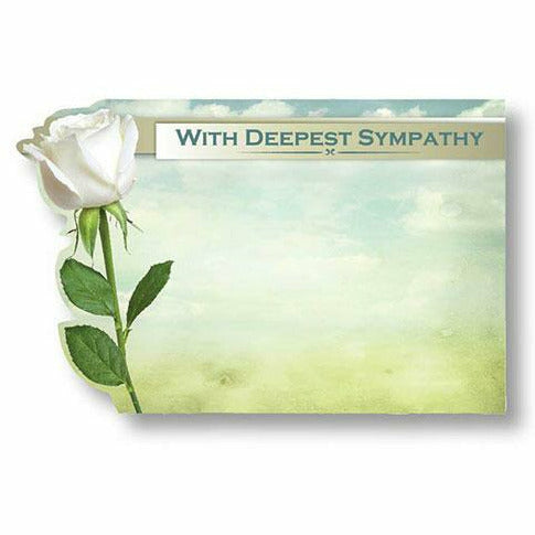 With Deepest Sympathy White Flower Card
