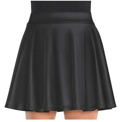 Womens Black Flare Skirt