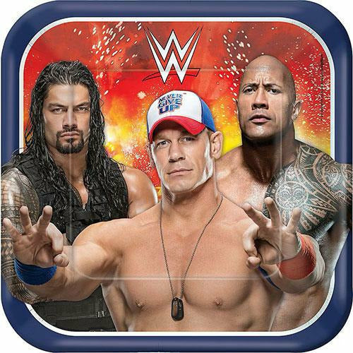 WWE Lunch Plates 8ct