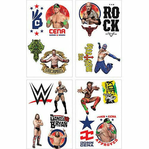 WWE Tattoos 1 Sheet