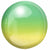 "080 Yellow & Green Ombre Orbz 16"" Mylar Balloon"