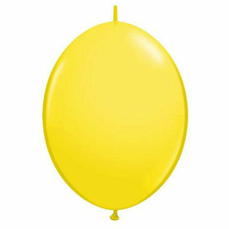 "Yellow QuickLink 12"" Latex Balloon"