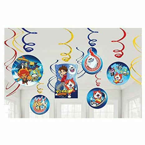 Yo-Kai Watch Swirl Decorations 12ct