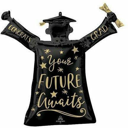 "You're Future Awaits Congrats Grad Jumbo 29"" Mylar Balloon"