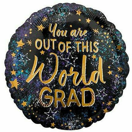 "G07 You Are Out of this World Grad 17"" Mylar Balloon"