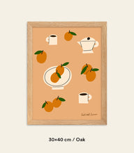 Load image into Gallery viewer, Oranges & Coffee Framed