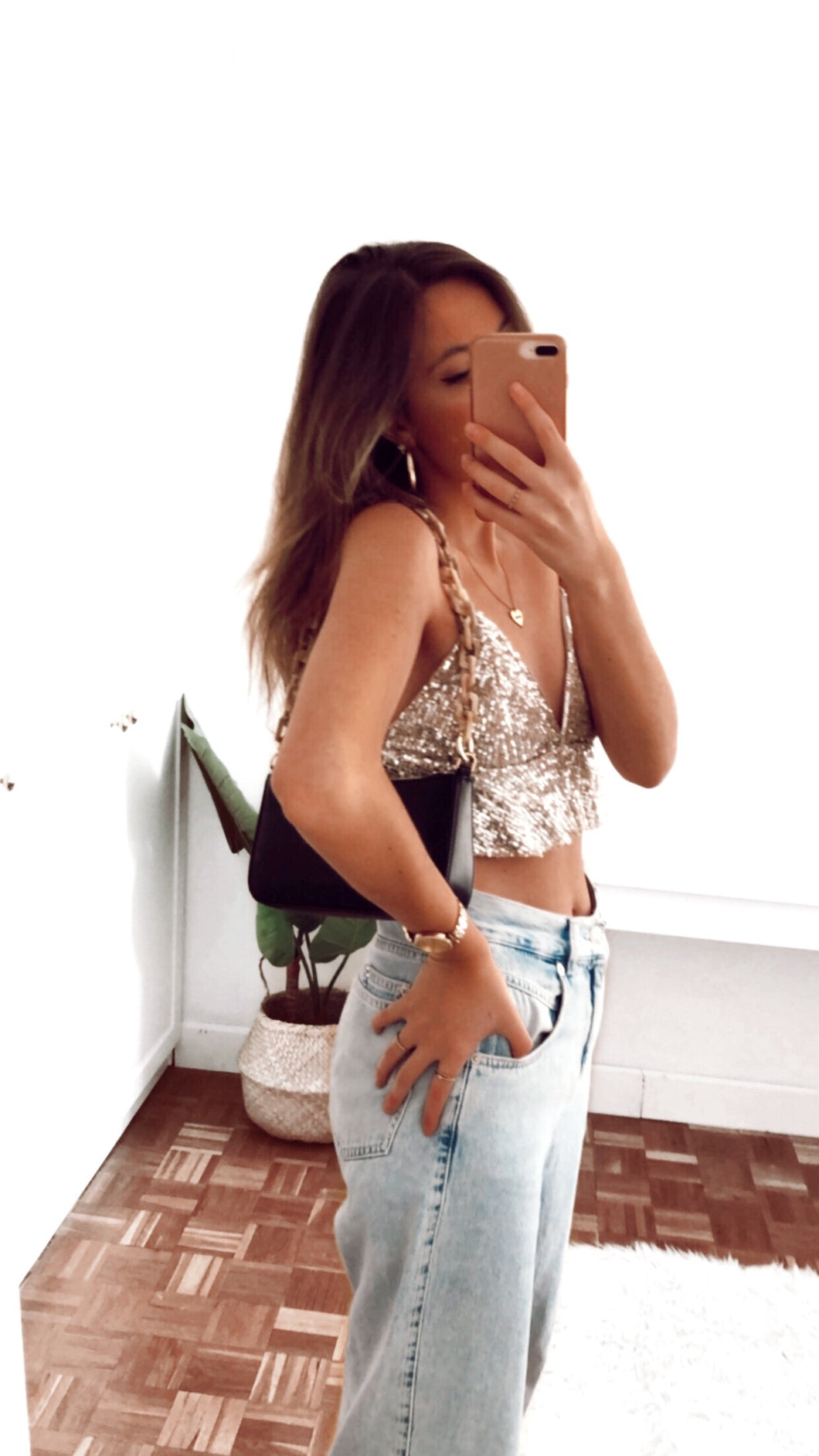 Juliette glitter top