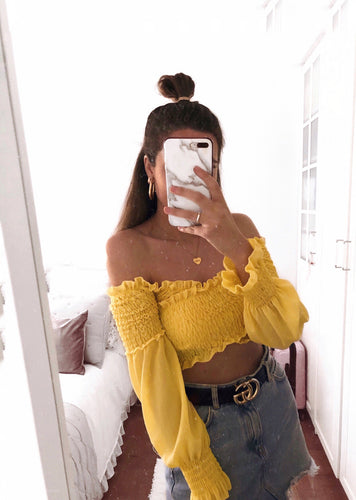 Lemon crop top