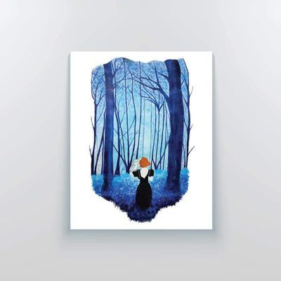 The Deep Blue Forest Canvas Print - Yo aatma