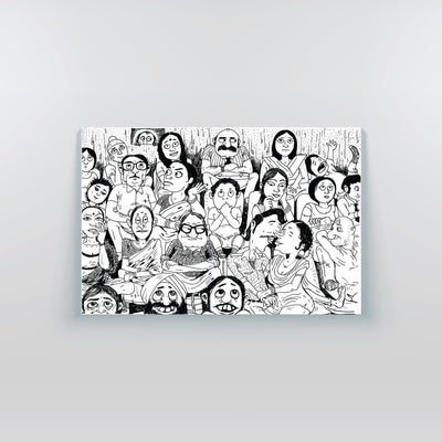 The Big Indian Family Canvas Print - Yo aatma