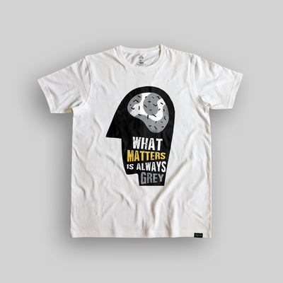 The Grey Matter Unisex Organic Cotton T-shirt - Yo aatma