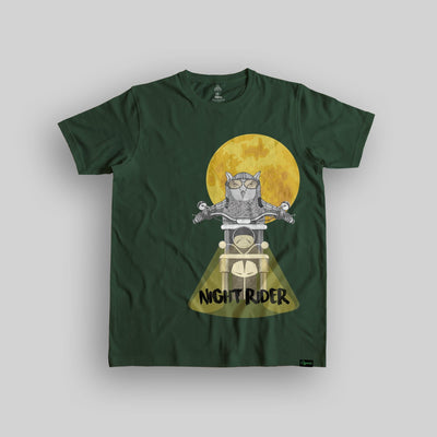 Night Rider Unisex Organic Cotton T-shirt - Yo aatma