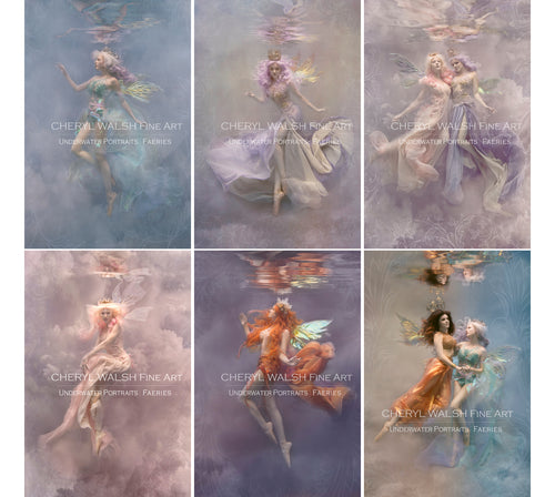 6 - Set of Six 4x6 Faerie Underwater Fine Art Gift Prints