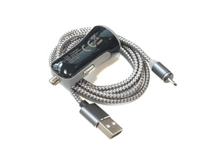 Car Charger with USB Cable