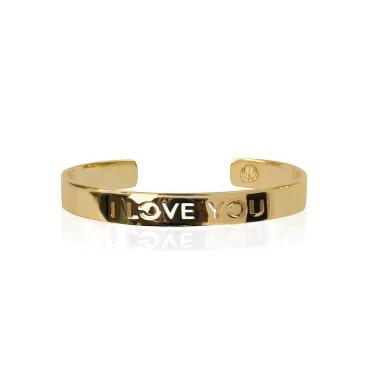 24K Gold Plated I Love You Bracelet Bangle by Cristina Ramella