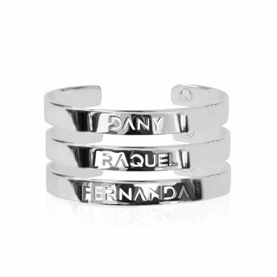 Sterling Silver Create your Family Stack by Cristina Ramella