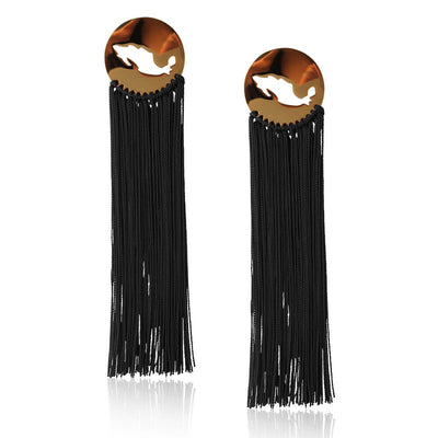 Black Gracias Mexico Earrings by Cristina Ramella