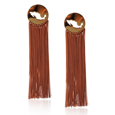 Brown Gracias Mexico Earrings by Cristina Ramella