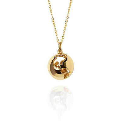 24K Gold Plated Globe Necklace by Cristina Ramella