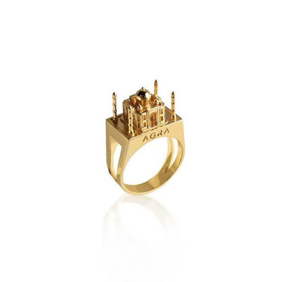 24K Gold plated Agra Ring by Cristina Ramella