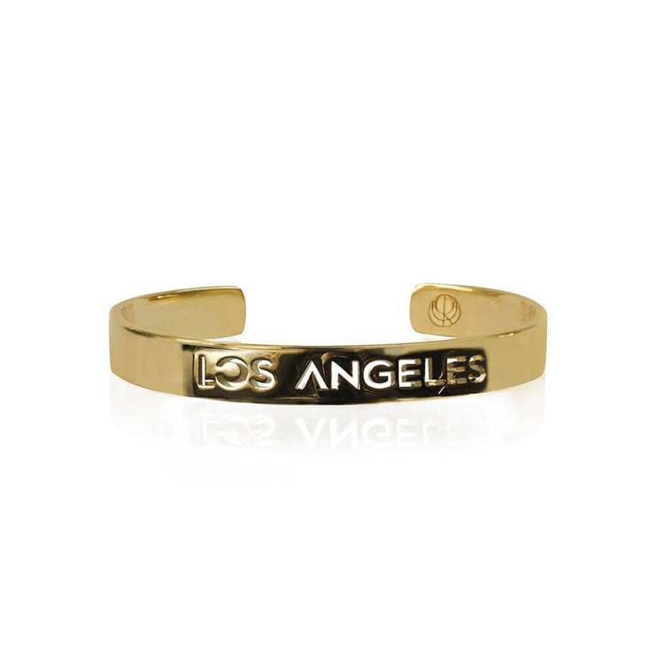 Sample Gold 24K Plated Los Angeles Bracelet by Cristina Ramella
