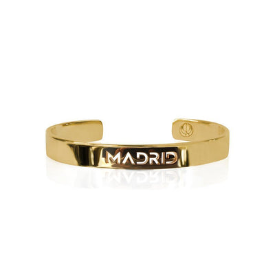24K Gold Plated Madrid Bracelet Bangle by Cristina Ramella