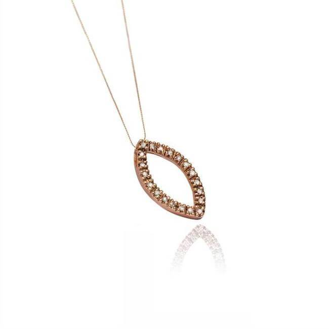 14K Rose Gold Marquis Necklace by Cristina Ramella