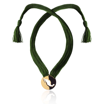 Green Gracias Mexico Necklace by Cristina Ramella