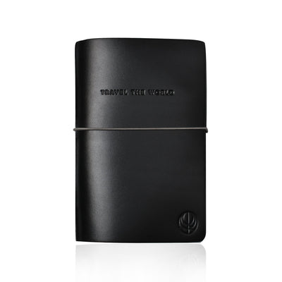 Black Leather Travel the World Notebook by Cristina Ramella