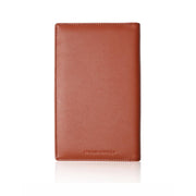 Microfiber synthetic Leather Brown Passport Holder by Cristina Ramella