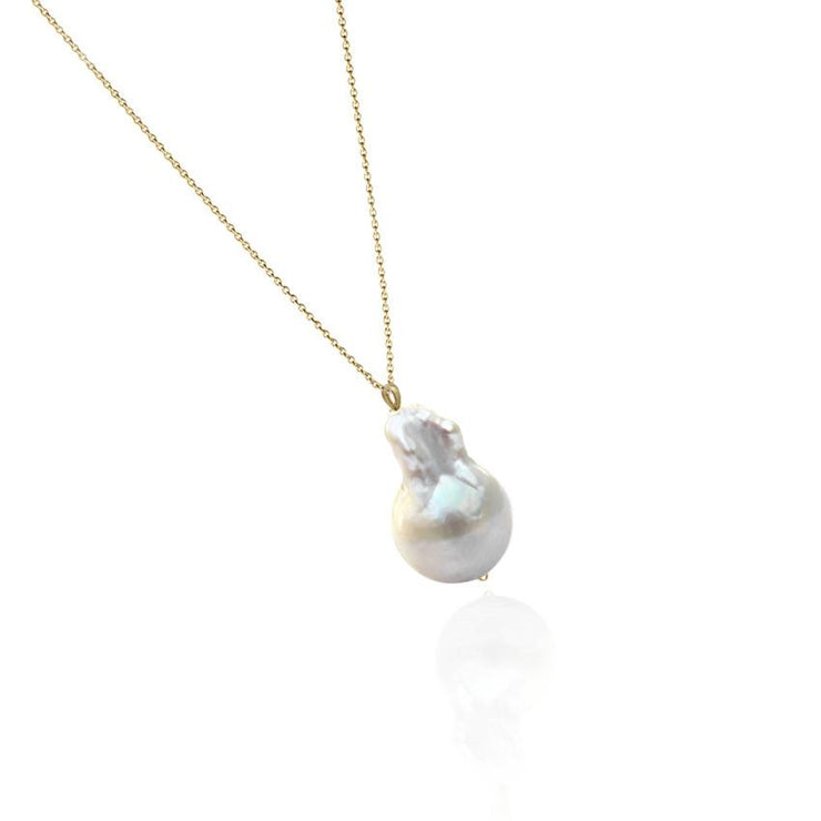 14K Gold natural Pearl Necklace by Cristina Ramella
