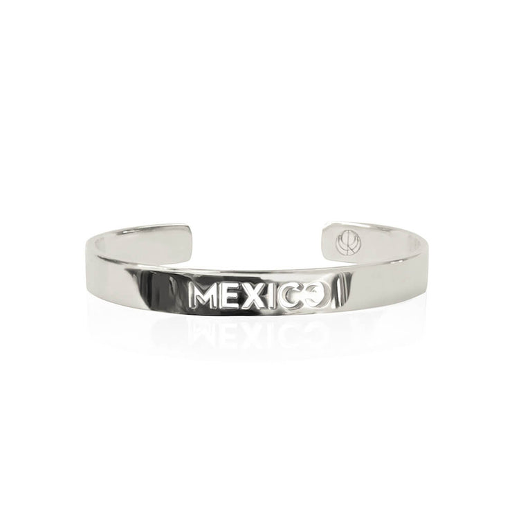 Rhodium Plated Mexico Bracelet by Cristina Ramella