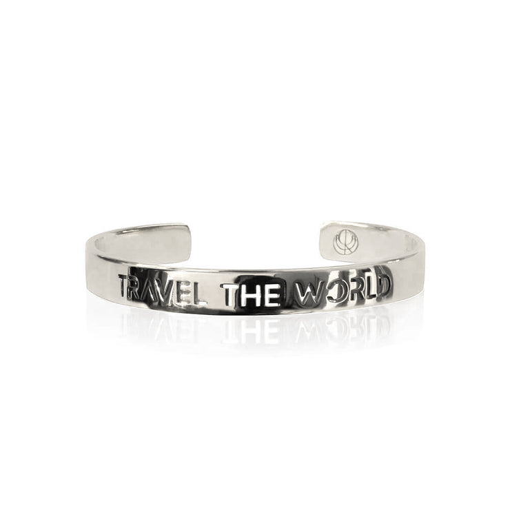 Rhodium Travel the World Bracelet by Cristina Ramella