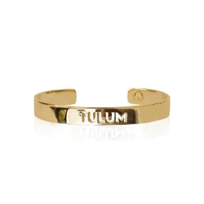 24K Gold Plated Tulum Bracelet Bangle by Cristina Ramella