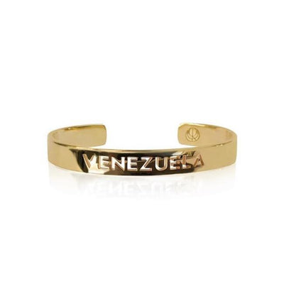 24K Gold Plated Venezuela Bracelet Bangle by Cristina Ramella