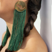 Wearing Green Gracias Mexico Earrings by Cristina Ramella