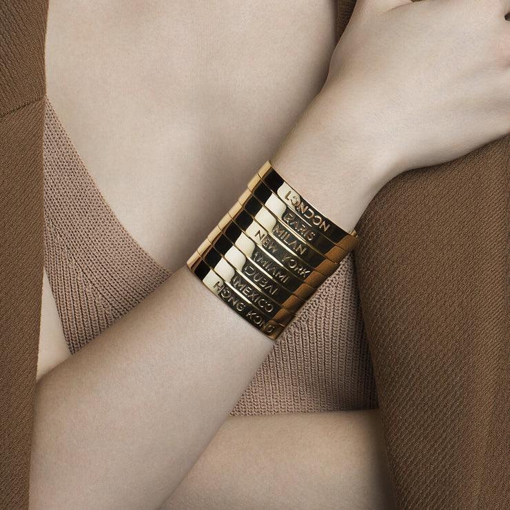Wearing Mexico Bracelet by Cristina Ramella