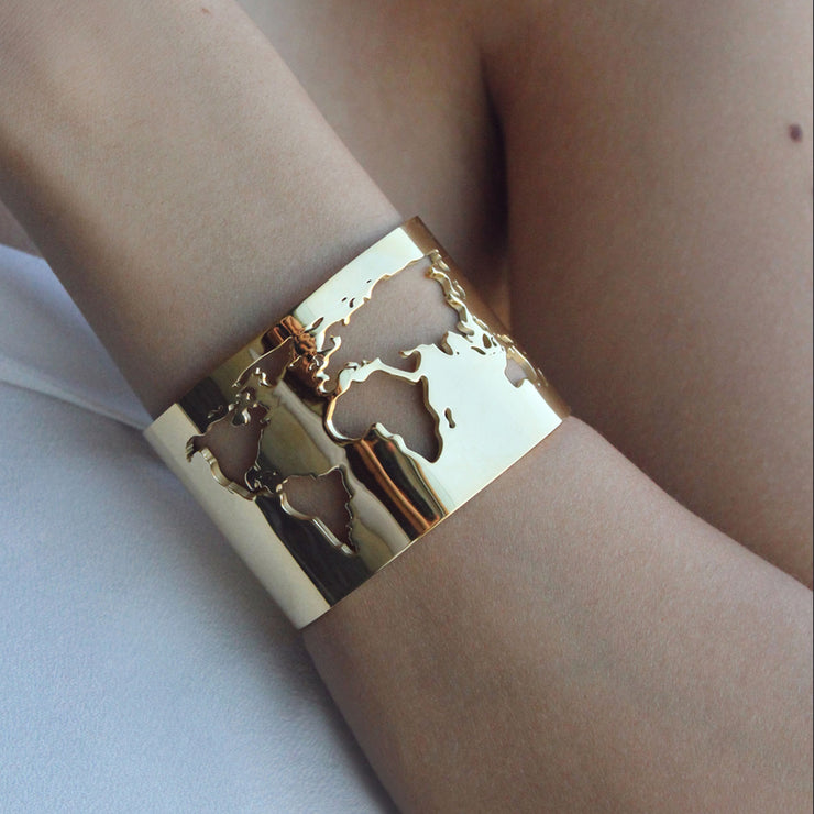 World Cuff Gold by Cristina Ramella
