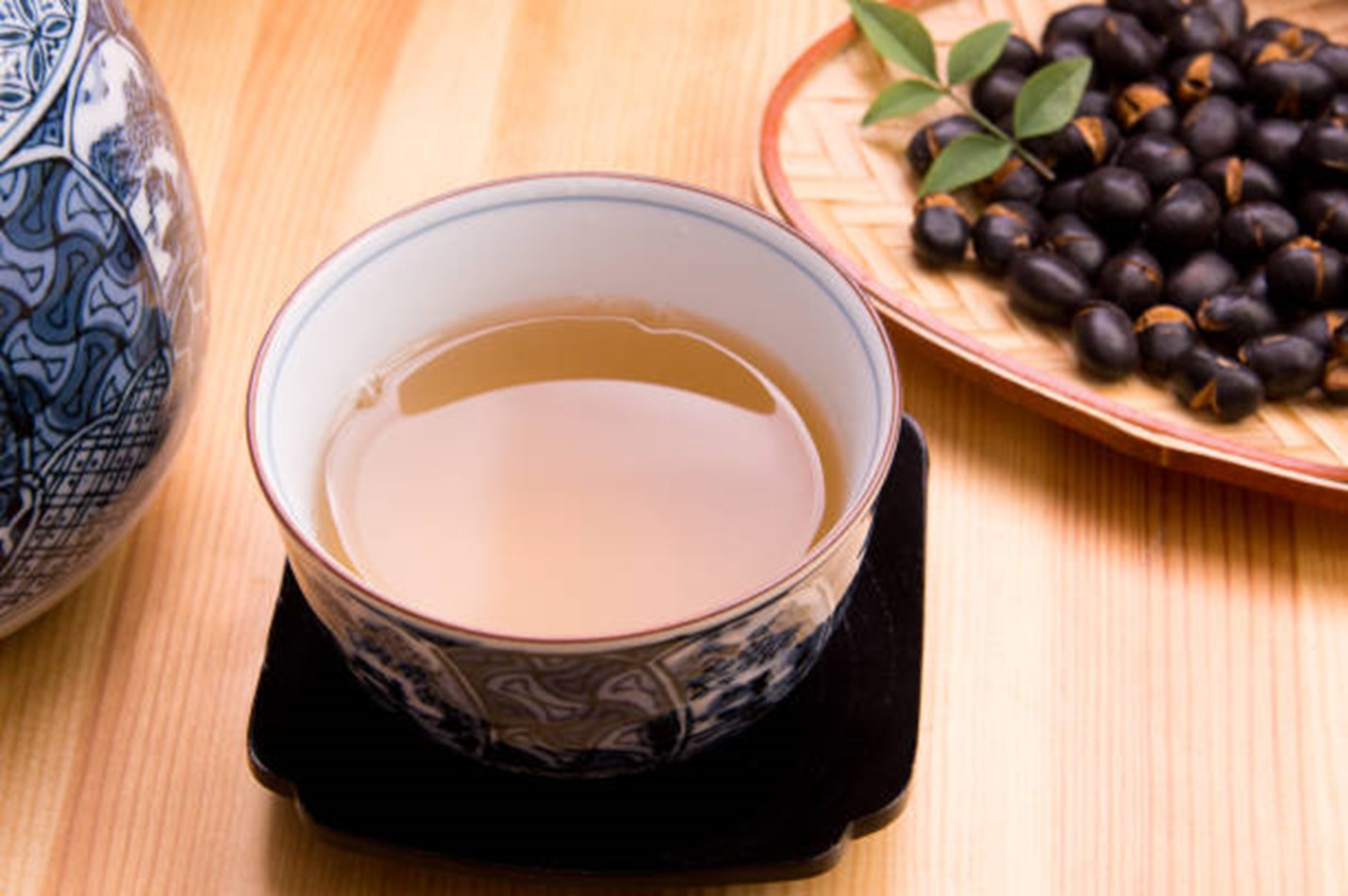 Organic black bean tea is great for improved blood flow.