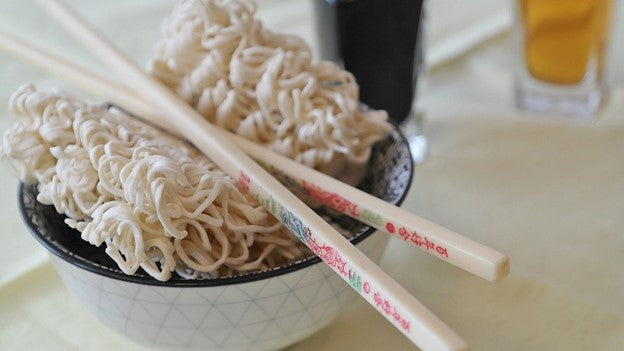 Dehydrated instant noodles can be made into a hot steaming bowl of delicious ramen noodles