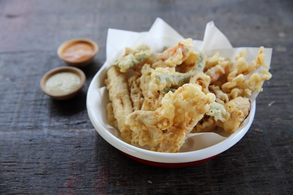 Vegetable Tempura and Two Sauces